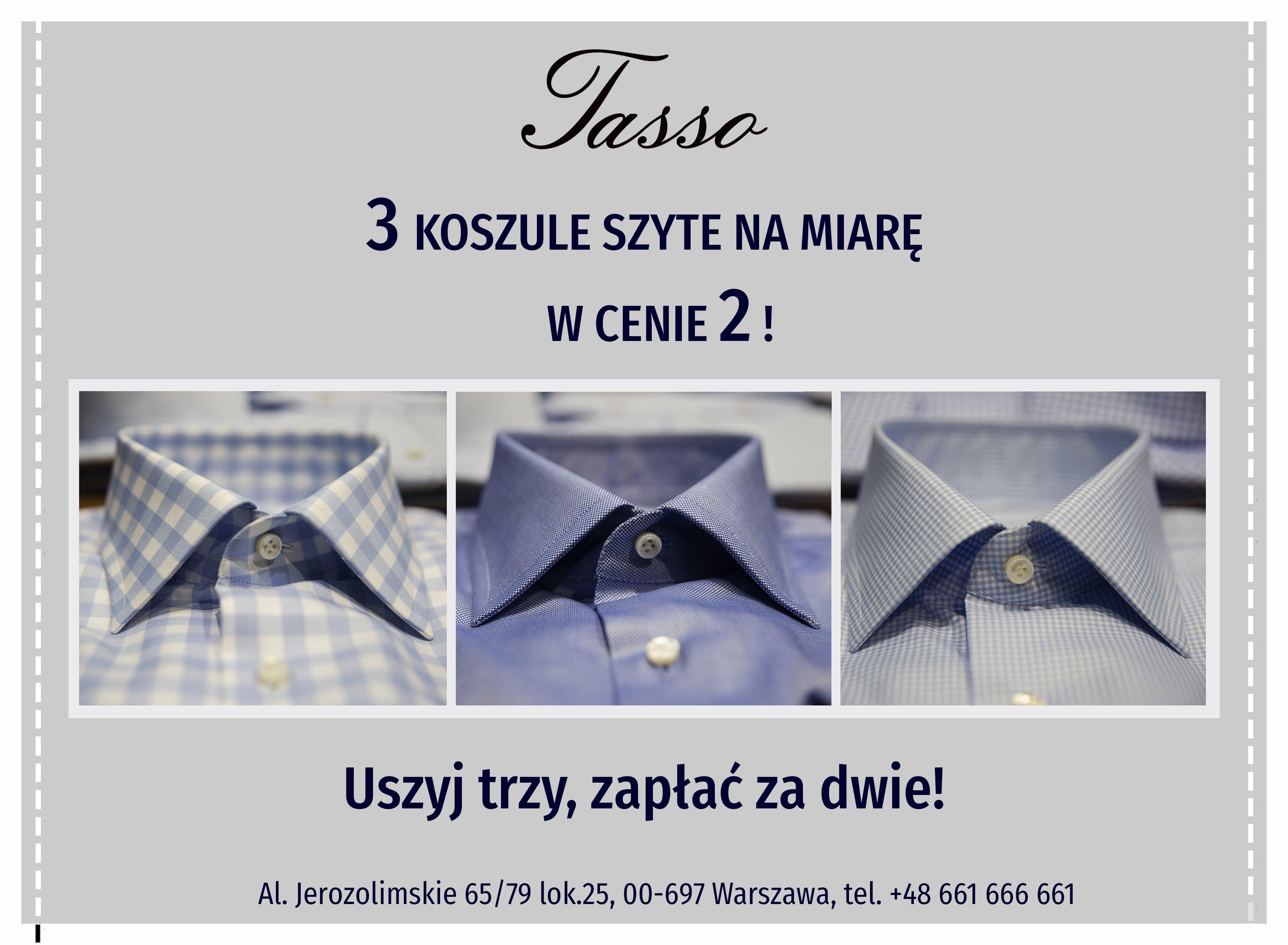 Oferta! 3 koszule na miarę w cenie 2!
