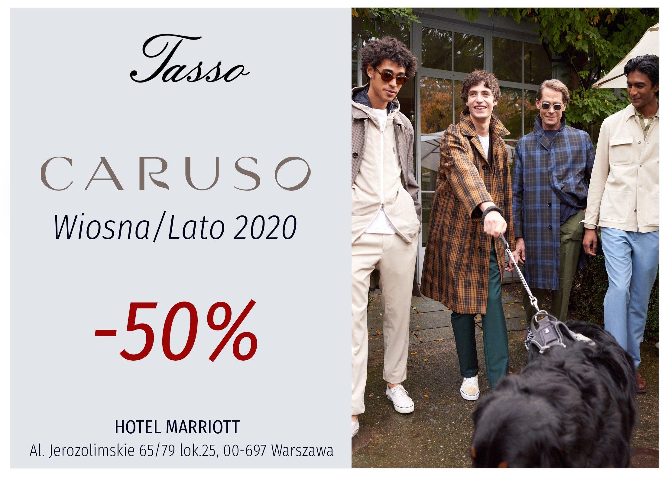Zapraszamy! – 50% na całą kolekcję Wiosna/Lato od Caruso